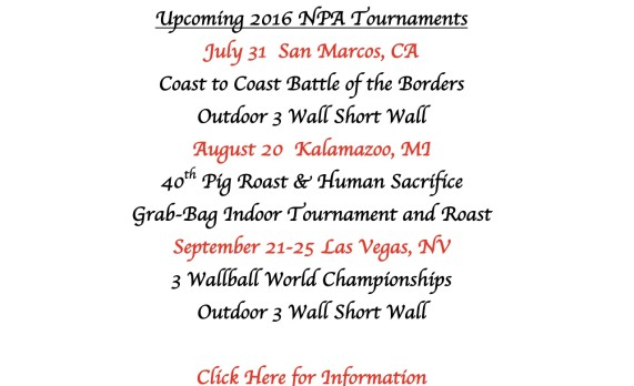 Summer and Fall Tournaments