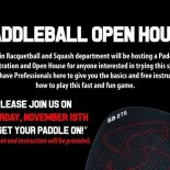 Paddleball Open House