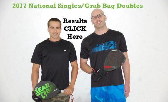 National Singles/Grab Bag Doubles Results