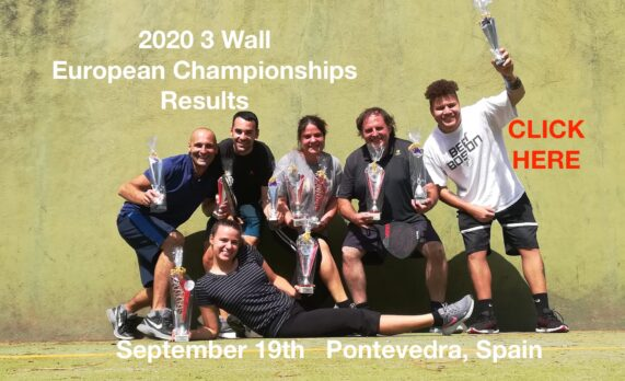 RESULTS 2020 European 4 Wall Championships